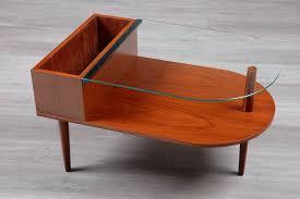 danish 1960 s teak glass coffee table
