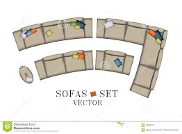 creative furniture icons set flat design. Creative Furniture Icons Set Flat Design. Sofas Armchair Set. Top View.  Furniture, Design