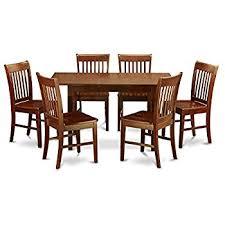 east west furniture nofk7 mah w 7 piece kitchen table set