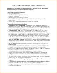 Employee Review Examples Sop Example