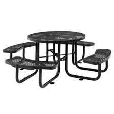 Round outdoor metal table Bistro Table Benches Picnic Tables Picnic Tables Steel 46quot Round Outdoor Steel Picnic Table Expanded Metal Black 277150bk Globalindustrialcom Global Industrial Benches Picnic Tables Picnic Tables Steel 46quot Round
