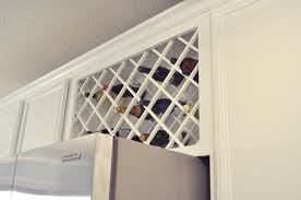 wine rack cabinet above fridge. FYI, It Turns Out That Wine Storage Above A Refrigerator Can Be Quite Controversial And Some Advise Against It. However, I Have Checked The Temperature Rack Cabinet Fridge R
