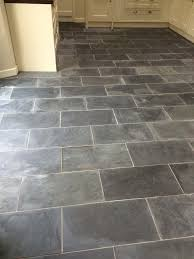 stone floor tiles. Perfect Floor Varnished Brazilian Slate Tiles Before Cleaning With Stone Floor I