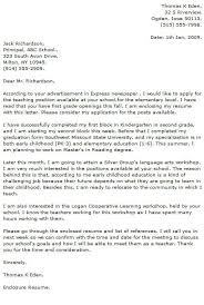 Tutor Cover Letter What To Include In A Cover Letter For Teaching Teacher