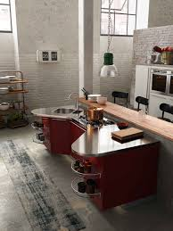 kitchen designs red kitchen furniture modern kitchen. Wine Colored Kitchen By Snaidero With Stainless Steel Countertops And Red Cabinets Pendant Designs Furniture Modern