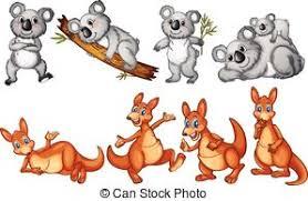 cartoon kangaroo and joey vector clip artby dazdrma53 12 621 koalas and kangaroos on white