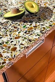 concrete with glass countertop packed with recycled glass recycled glass contemporary for prepare inspiring concrete with glass countertop