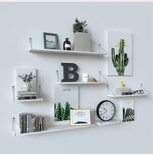 wall floating shelf wall mounted display storage shelves for bedroom