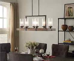 wood and metal chandelier. Image Is Loading Vineyard-6-Light-Wood-Metal-Chandelier-Rustic-Dining- Wood And Metal Chandelier O