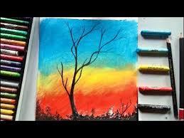 easy sunset beautiful scenery drawing