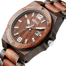 meku mens wooden watch two tone sandalwood quartz watch birthday meku mens wooden watch two tone sandalwood quartz