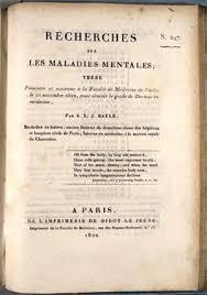 paris medical theses collection library university paris medical theses collection recherches sur les maladies mentales by antoine laurent jesse bayle paris 1822