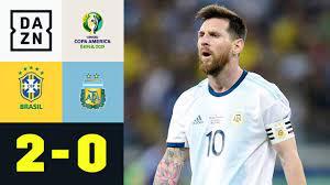 Brasilien vs argentinien copa america. Lionel Messis Titeltraum Platzt Erneut Brasilien Argentinien 2 0 Copa America Dazn Highlights Youtube