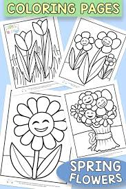 Printable Spring Flowers Coloring Sheets Download Them Or Print