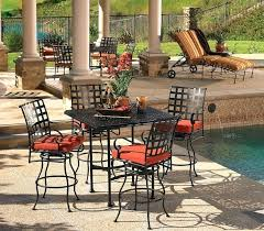 wrought iron patio ow lee used wrought iron patio dining set
