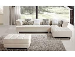 star ivory leather modern sectional sofa set 1 jpg