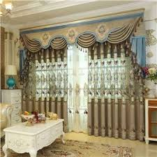 living room curtains. 53 European Ritzy Style Chenille Hollowed-out Embroidery Living Room Curtain Curtains Y