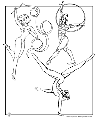 Small Picture Olympic Girls Gymnastics Coloring Page Woo Jr Kids Activities