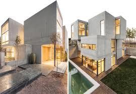 Esterni Casa Dei Designer : Contemporary concrete cast villa in iran elle decor italia
