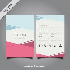 tamplate abstract brochure template vector free download