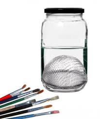create your own paint brush cleaning container via hubpages