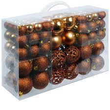 100 Tlg Weihnachtsbaumschmuck Set Braun Kunststoff Weihnachtsbaumkugeln Weihnachtskugeln Christbaumkugeln Weihnachtsdeko Baumschmuck Weihnachtsbaum