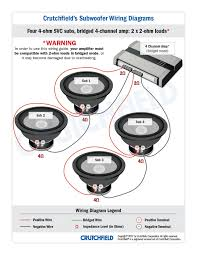 subwoofer wiring diagrams 4 svc 4 ohm 4ch low imp