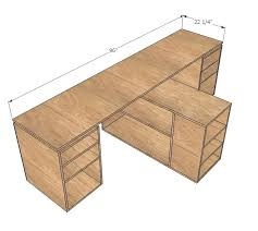 do it yourself office desk. Build It Yourself Desk White Modular Office Desktop Made With Plywood Projects Your Ikea Do O