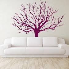 barren tree wall sticker mural