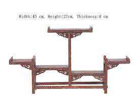 Wooden Display Stands For Figurines Exquisite Chinese Decoratable Classical Handmade Wenge Wooden 50
