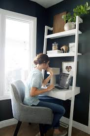 small office in bedroom. Create A Stylish, Productive Little Nook, Even When Space Is Tight, With Our Chic, Modern Home Office Ideas For Small Spaces From Sawyer White Leaning Wall In Bedroom Pinterest