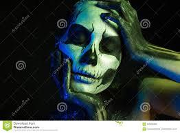 beautiful creepy with skeleton makeup