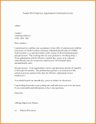 appointment letter template refrence confirmation letter format pdf new confirmation appointment letter