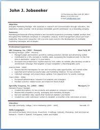 Resume Samples In Word Format Download Student Resume Template Word