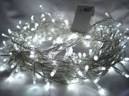 200 white led fairy lights 20m clear cable battery operated indoor