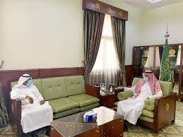 الخرج اليوم | الماضي يستقبل مدير إدارة الأحوال المدنية بالخرج في مكتبه  بديوان المحافظة