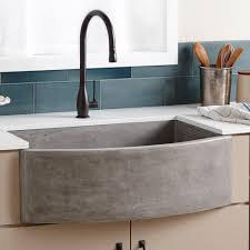 farmhouse quartet curved a front sink native trails kitchen stainless full size