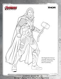 avengers coloring page for thor to thor coloring