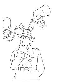 Inspector Gadget Think Of Something Inspector Gadget Coloring