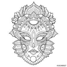 Small Picture Carnival mask coloring page for adults Fotolia 141948027