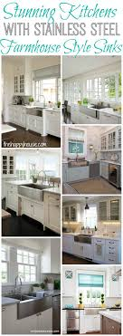 Farmhouse Style Kitchen Sinks Stainless Steel Farmhouse Style Kitchen Sink Inspiration The
