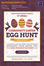 easter egg hunt template easter event flyer template egg hunt templates creative market ianswer