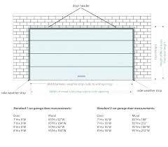 double garage door width metric average size standard plus height