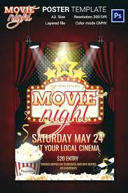 Movie Night Poster Template Fresh Free Flyer Template For Word