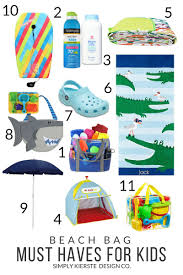 Beach Bag Must Haves for Kids - Simply Kierste Design Co.