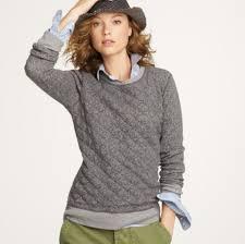68% off J. Crew Tops - J. Crew Gray Quilted Sweatshirt from Sara's ... & J. Crew Tops - J. Crew Gray Quilted Sweatshirt Adamdwight.com