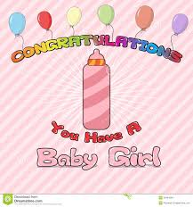 Congratulations New Born Stock Vector Illustration Of Background