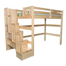 bunk beds with stairs. Aria Full Stairway Loft Bed Bunk Beds With Stairs