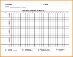 Blank Employee Attendance Calendar Monthly Ten Wall Calendar
