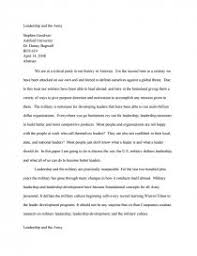 leadership and the army research paper zoom